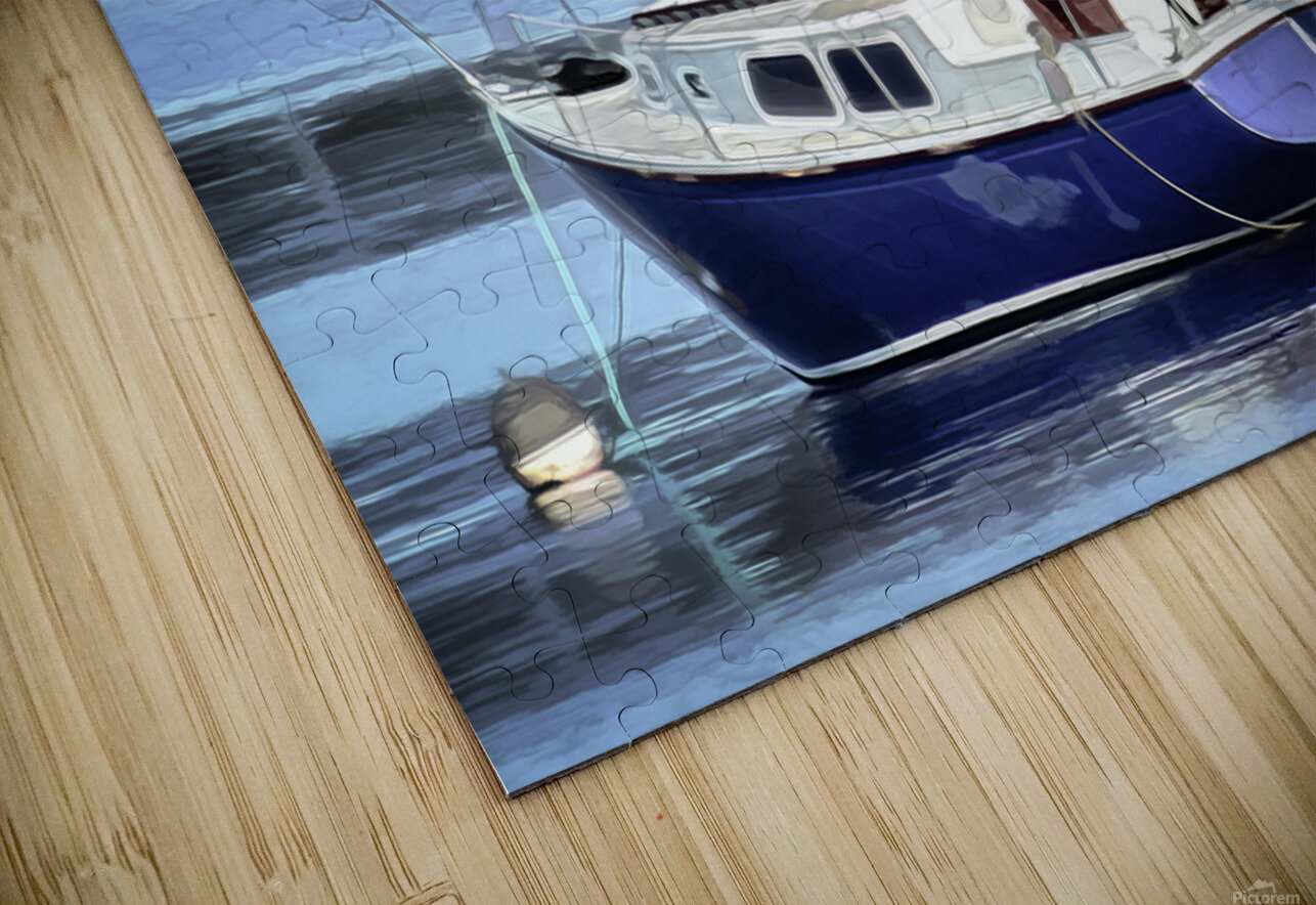 Resting in the Harbor HD Sublimation Metal print
