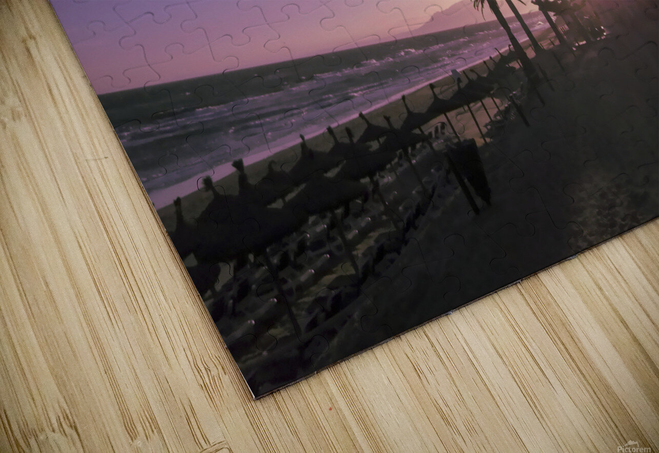 Sunset   Costa Del Sol   Andalusia Spain HD Sublimation Metal print
