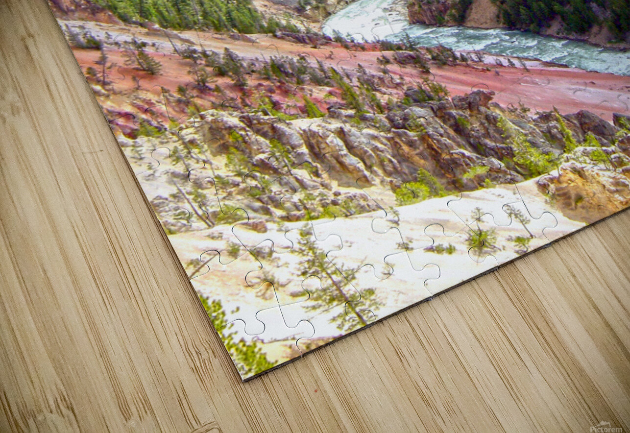 Grand Canyon of Yellowstone in the Waning Light of Day - Yellowstone National Park at Sunset HD Sublimation Metal print
