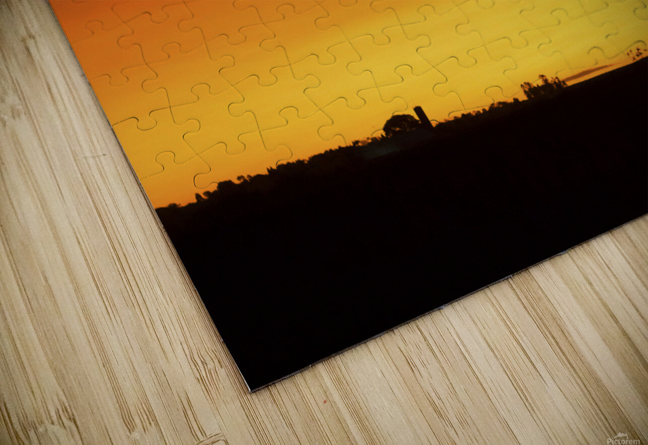Strong Colours at the End of a Day HD Sublimation Metal print