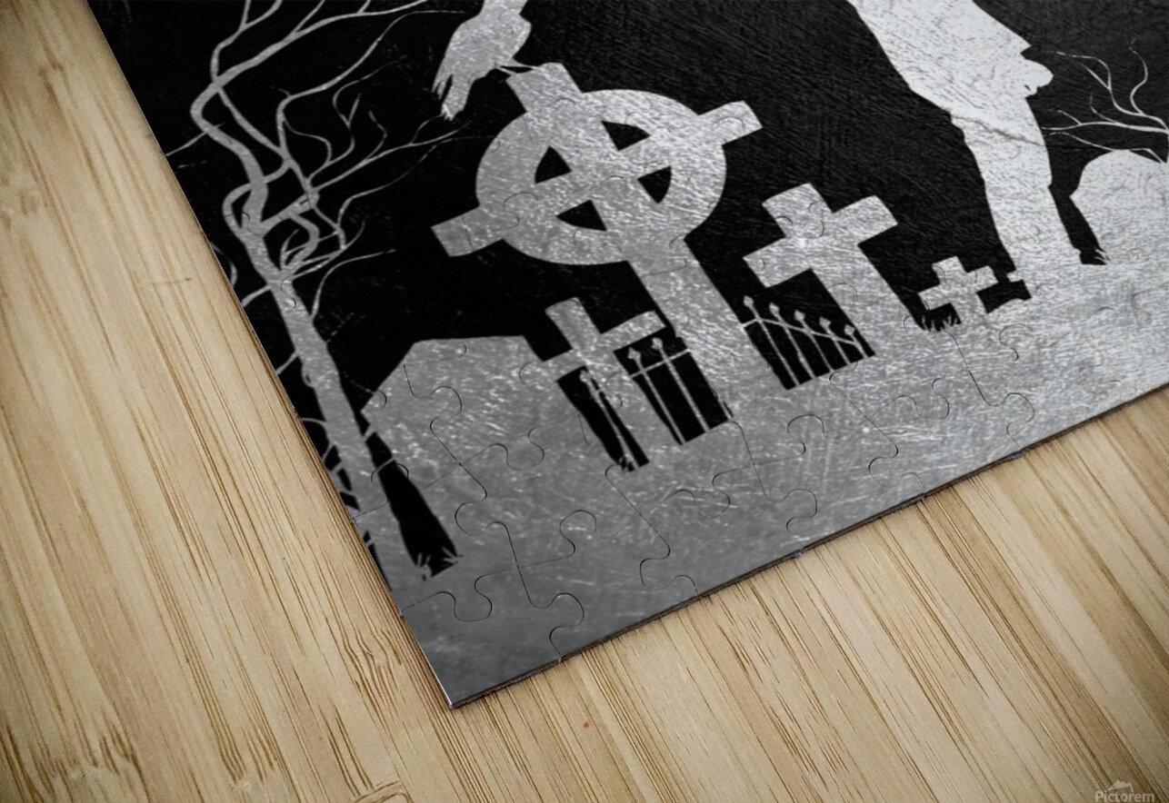 Laugh at Death Motivational Wall Art HD Sublimation Metal print