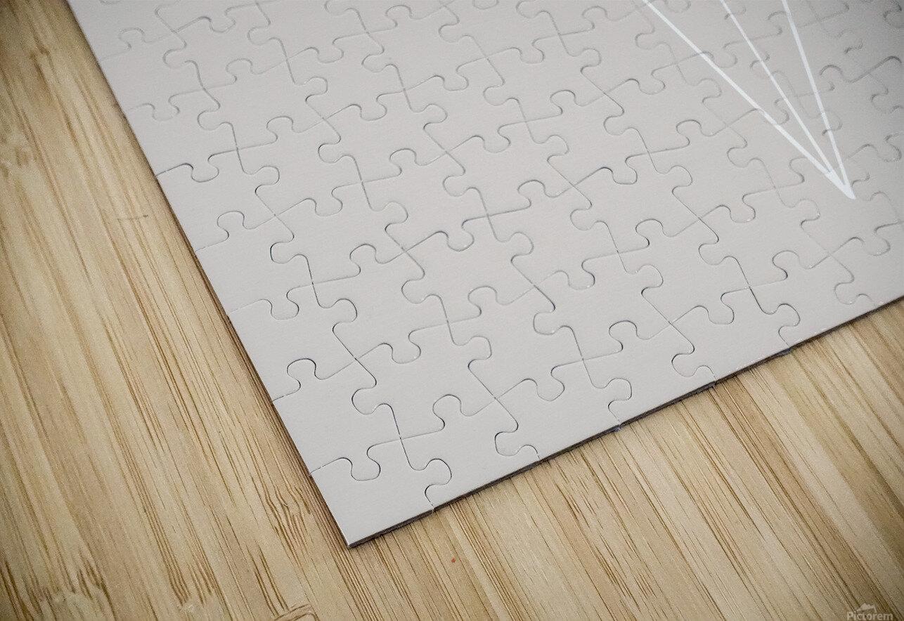 Grid Star Grey HD Sublimation Metal print