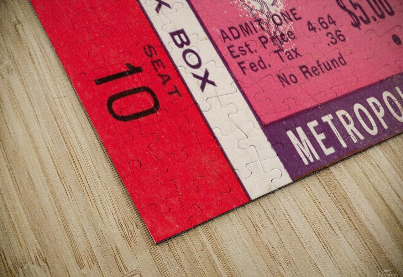 1964 Minnesota Vikings vs. Green Bay Packers Ticket Canvas HD Sublimation Metal print