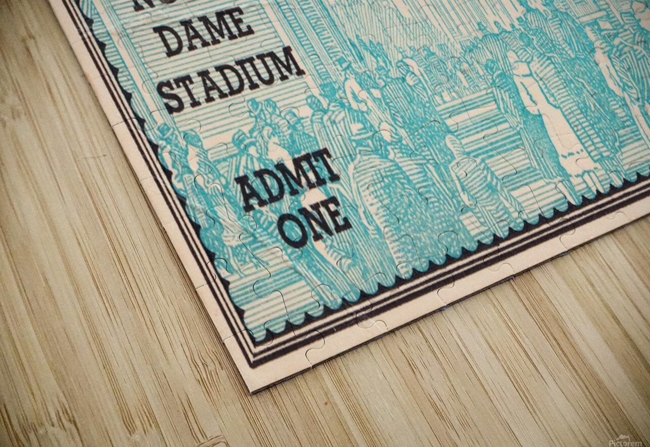 1938 Minnesota vs. Notre Dame Football Ticket Canvas HD Sublimation Metal print