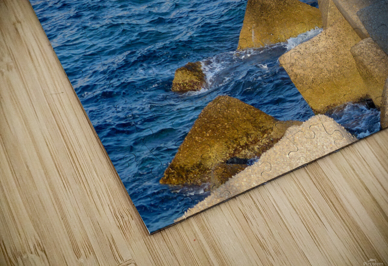 Cubes on the sea HD Sublimation Metal print