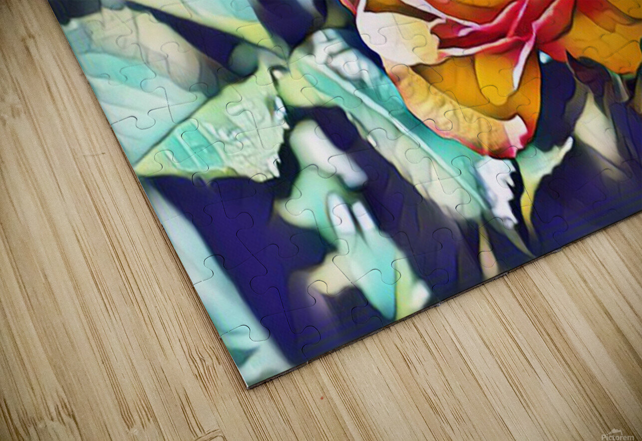 Rose in Yellow HD Sublimation Metal print