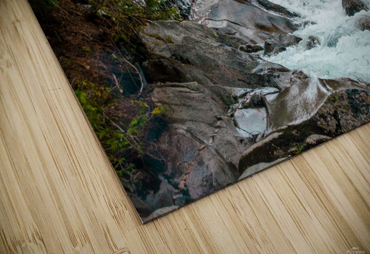 Wild Water in the Mountains HD Sublimation Metal print