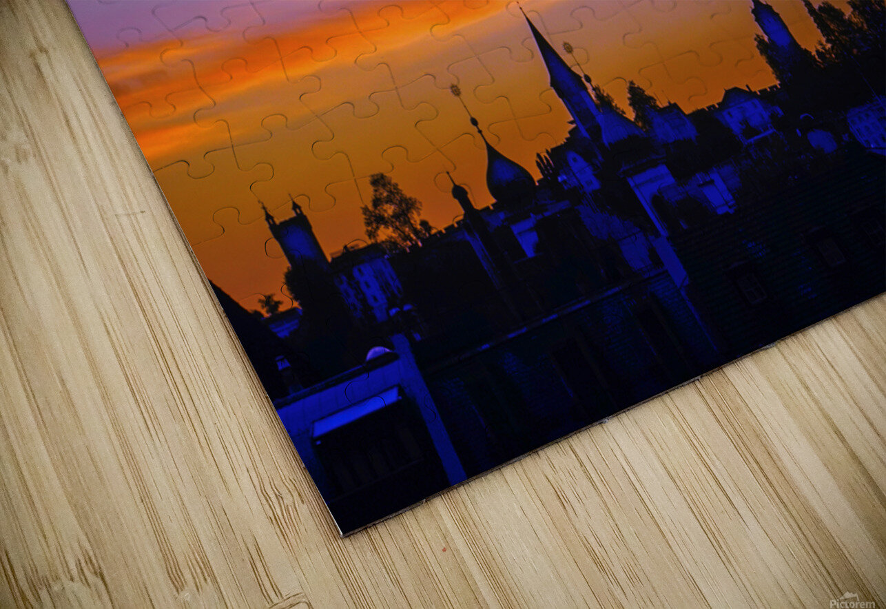 One Fine Summer Evening at Sunset in Lucerne Switzerland HD Sublimation Metal print