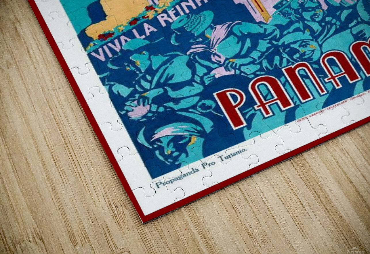 Carnaval de 1936 Panama Vintage Travel Poster HD Sublimation Metal print