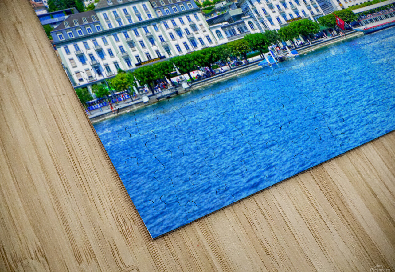Waterfront   Lucerne Switzerland 2 of 3 HD Sublimation Metal print
