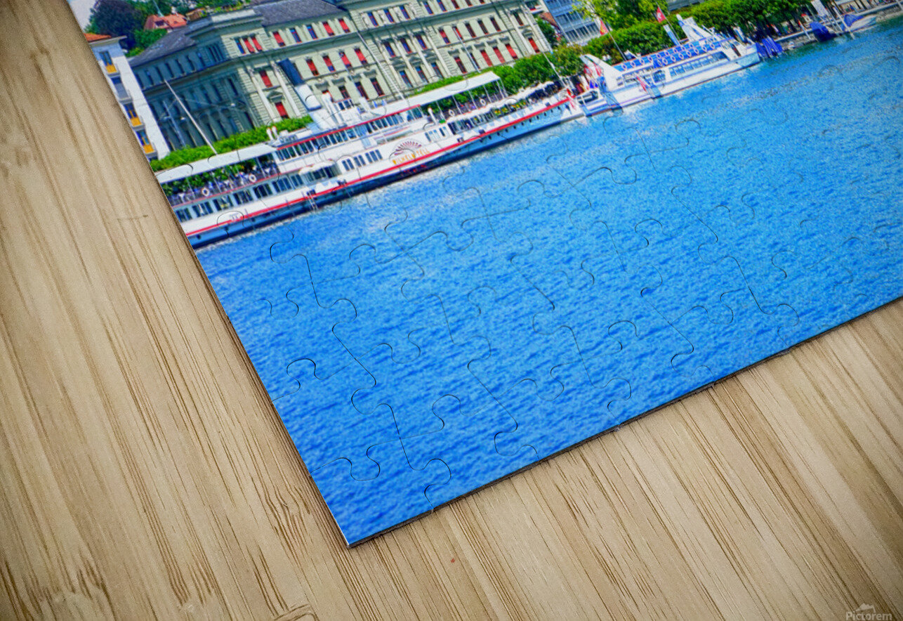Waterfront   Lucerne Switzerland 1 of 3 HD Sublimation Metal print