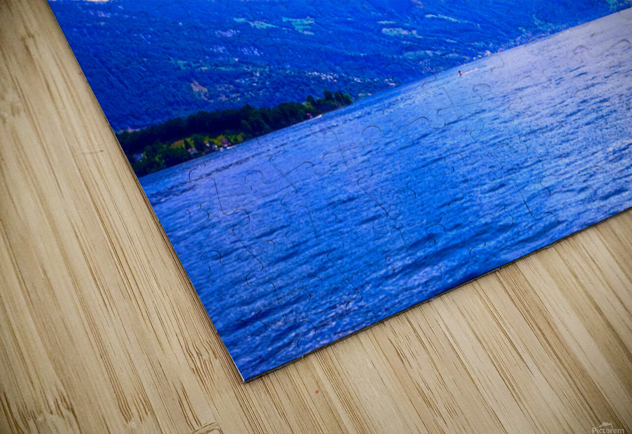 Beautiful Day The Alps and Lake Lucerne 1 of 2 HD Sublimation Metal print