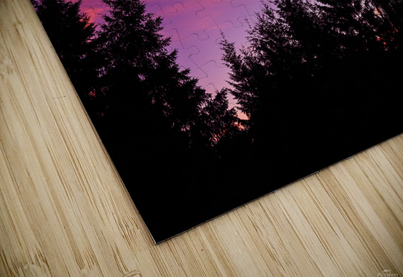 Summer Sunset Pacific Northwest United States HD Sublimation Metal print