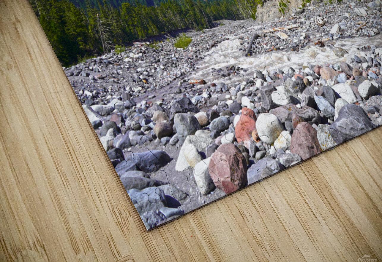 Spring Runoff Mount Rainier Pacific Northwest Washington State HD Sublimation Metal print