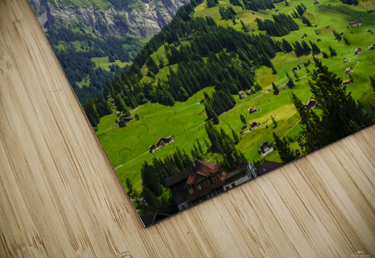Beautiful Day in the Swiss Alps 2 of 2 HD Sublimation Metal print