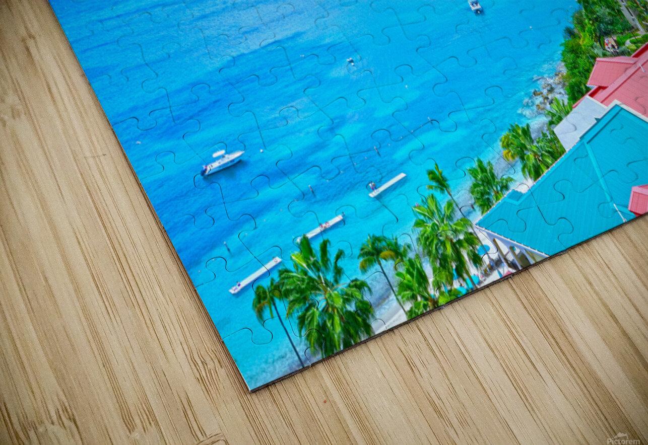 Pacquereau Bay Saint Thomas Caribbean Islands HD Sublimation Metal print
