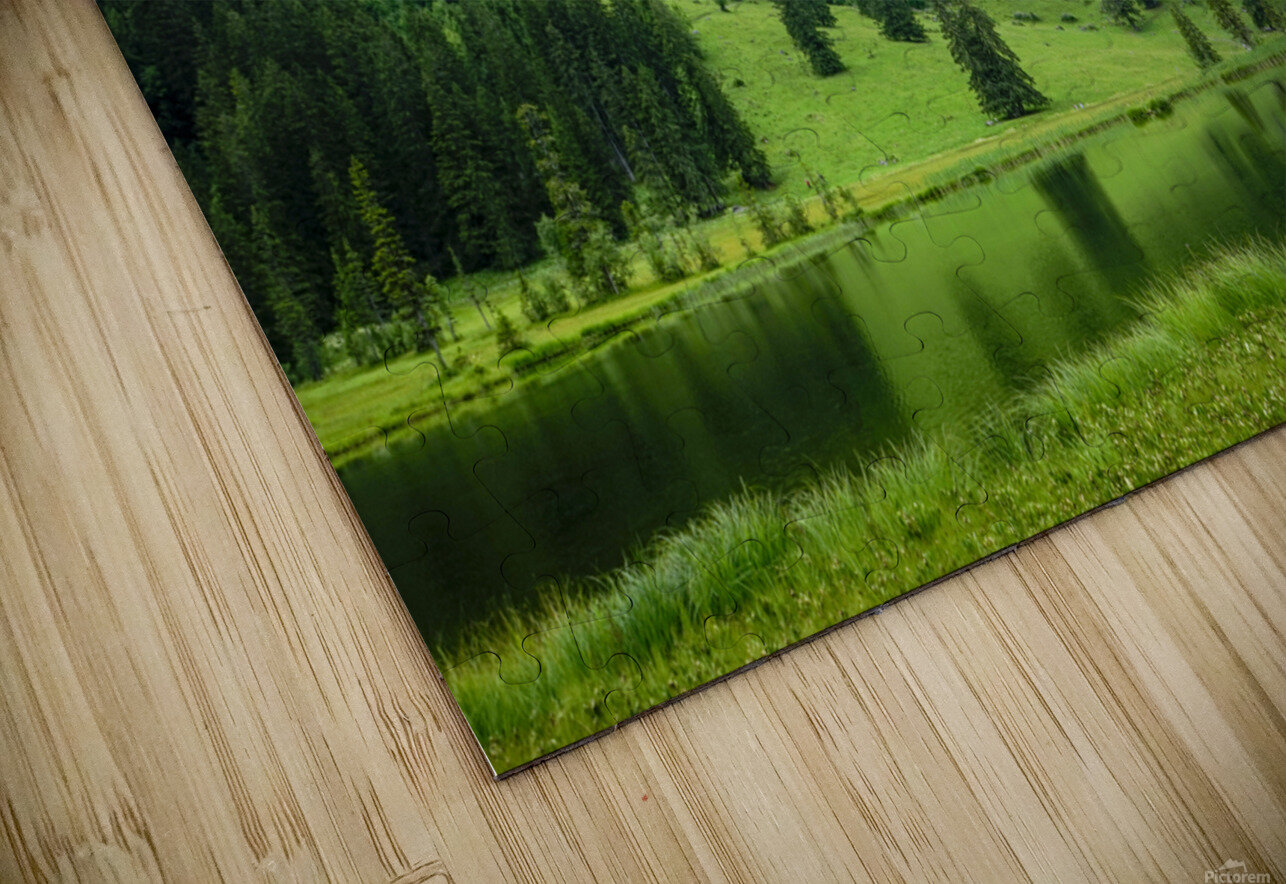 Quiet Morning on the Lake in the Swiss Highlands HD Sublimation Metal print