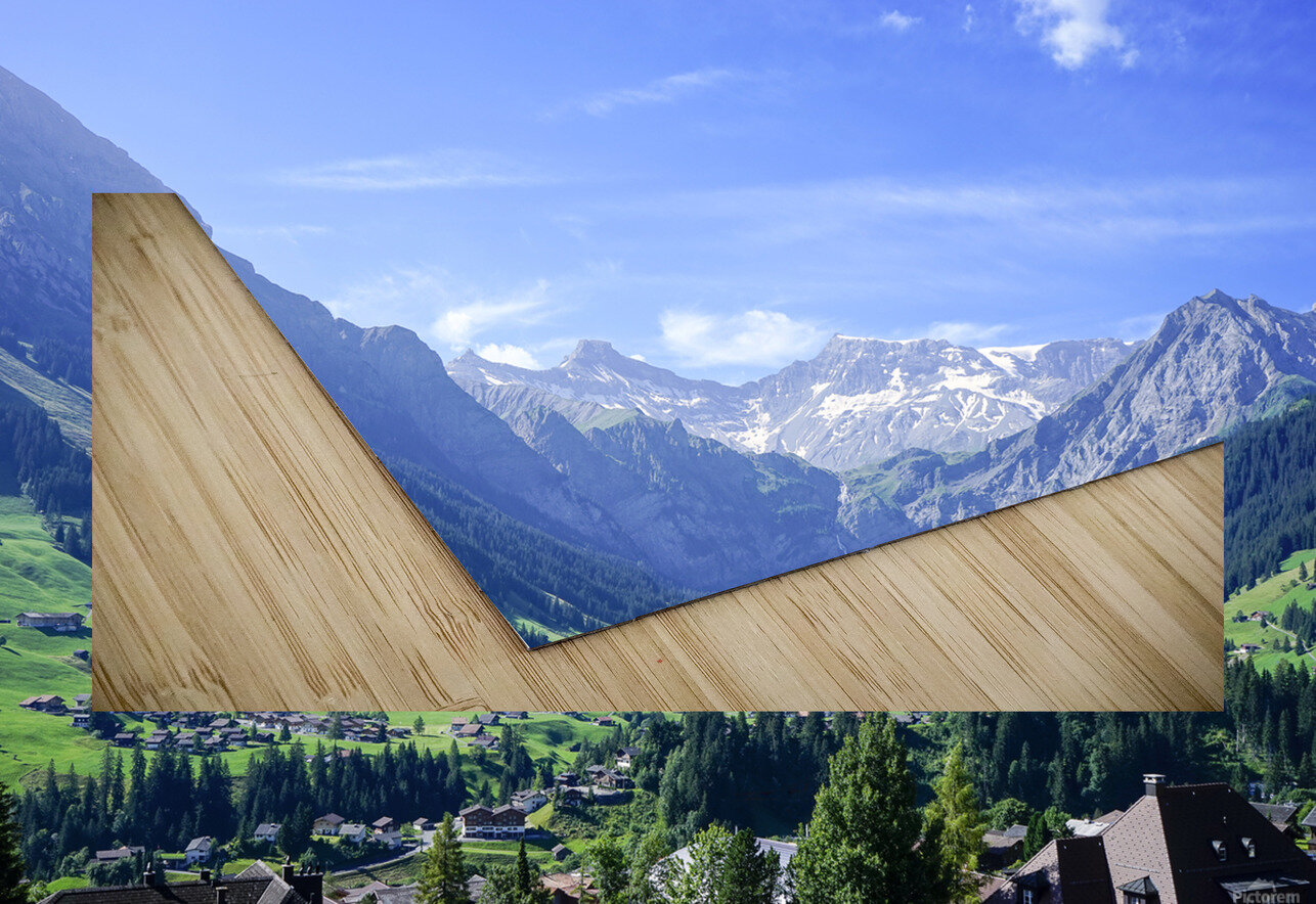 Blue Skies over the Alps in Adelboden Switzerland HD Sublimation Metal print
