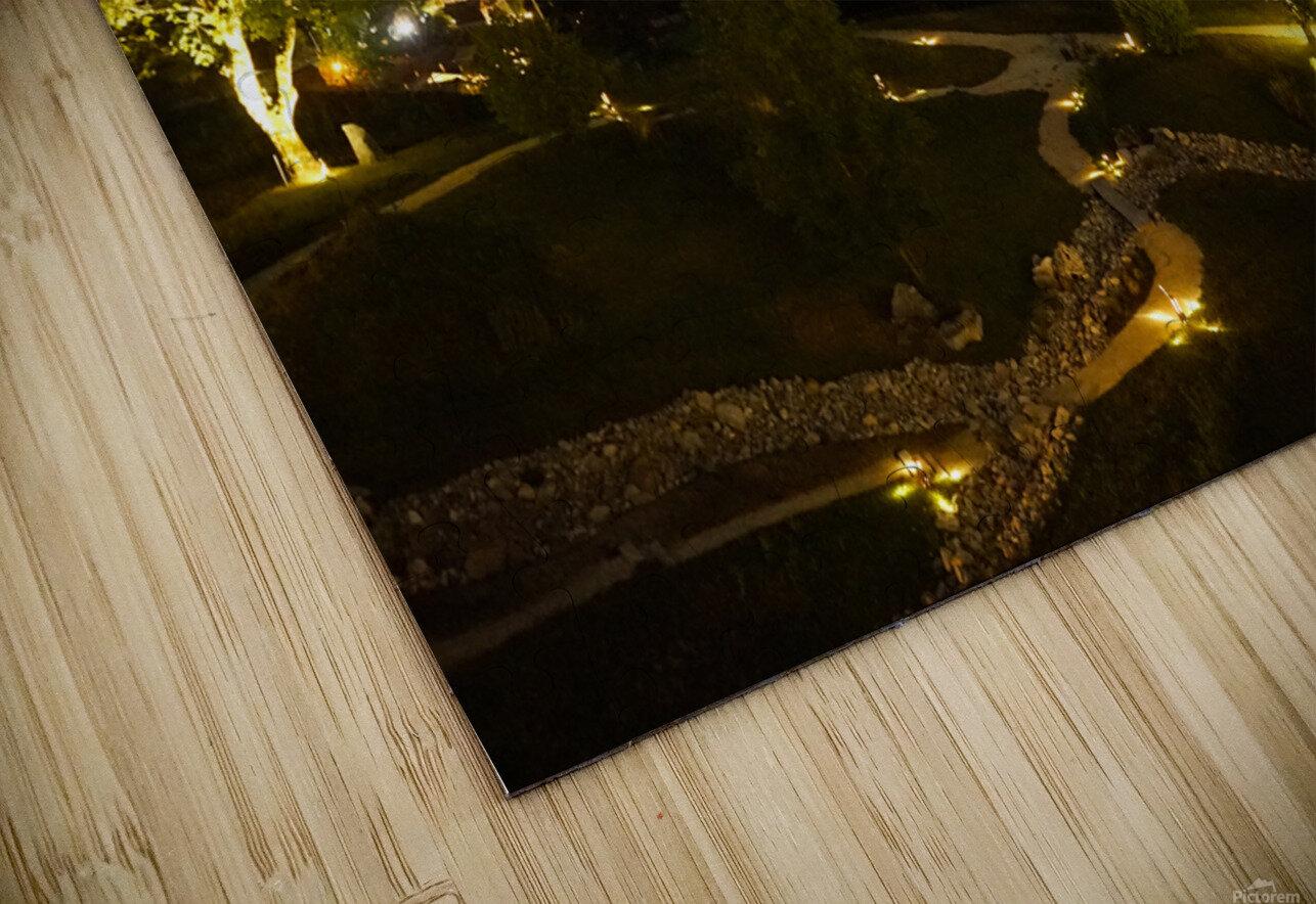 Night Arrives in the Saanen Valley in Switzerland HD Sublimation Metal print