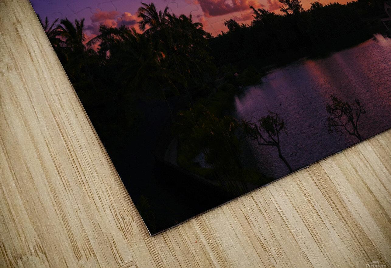 Sunrise over the Lagoon in Kauai HD Sublimation Metal print