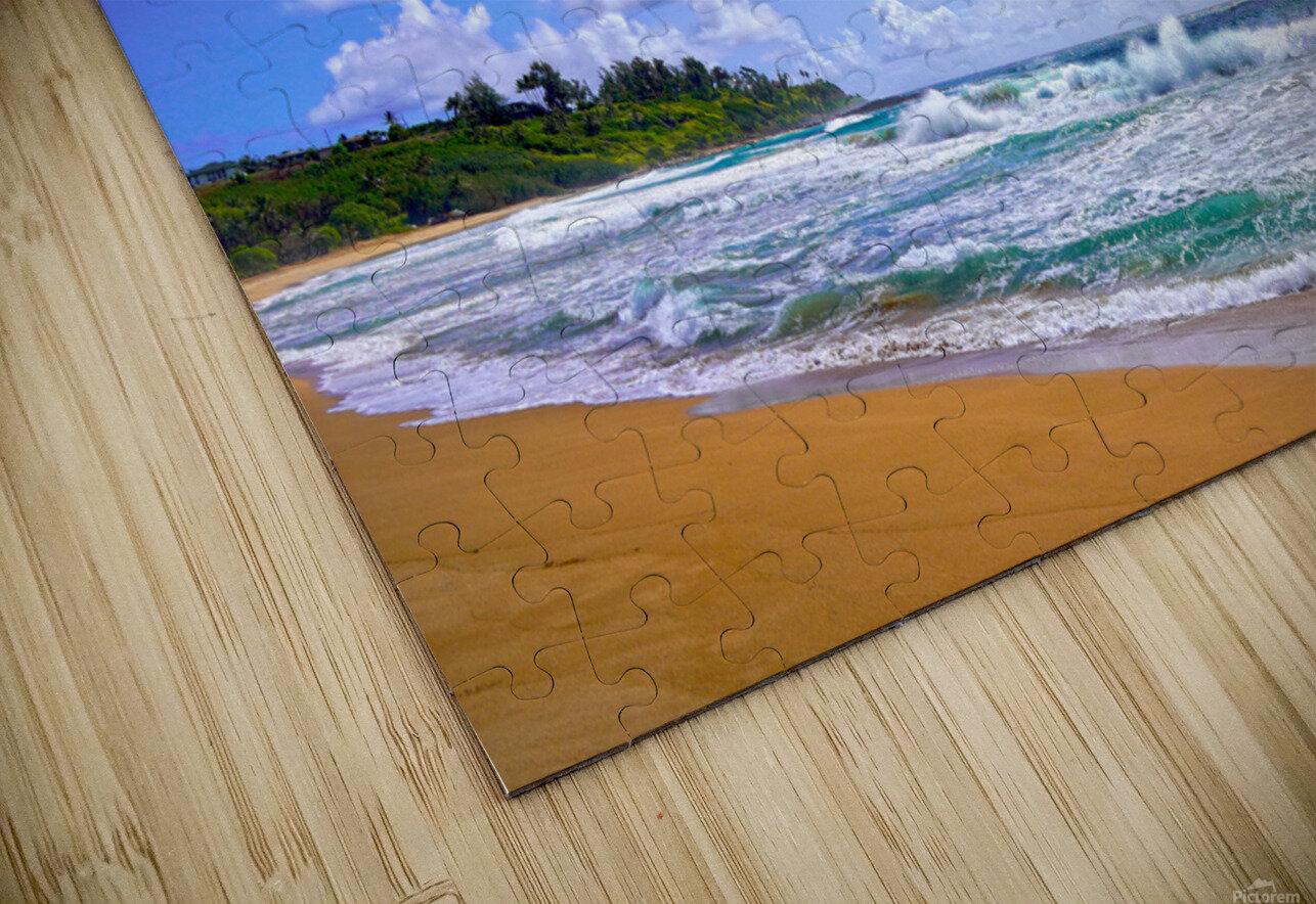 Wild Day at Wailua Beach on the Island of Kauai HD Sublimation Metal print