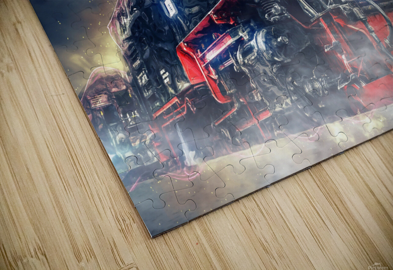 Ghost Train HD Sublimation Metal print