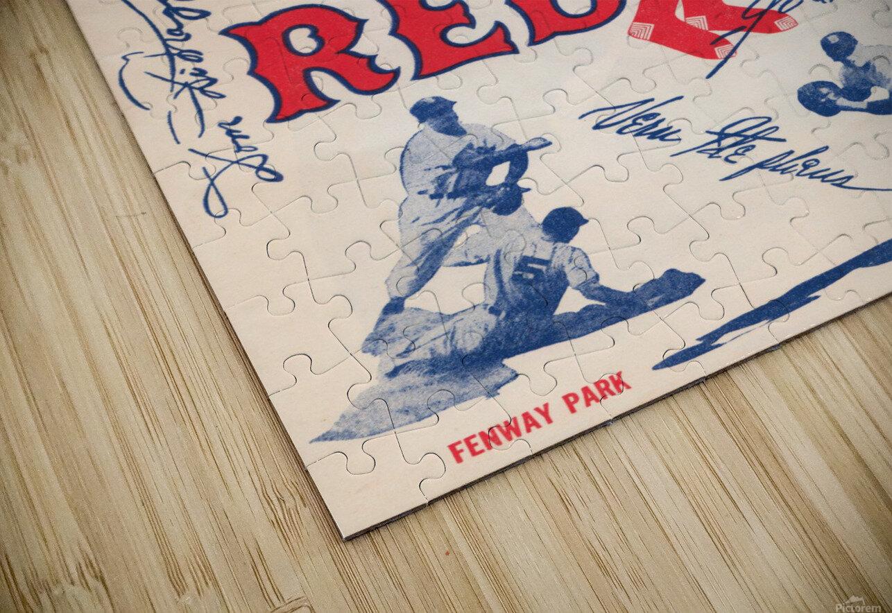 1950 Boston Red Sox Score Book Canvas Art HD Sublimation Metal print