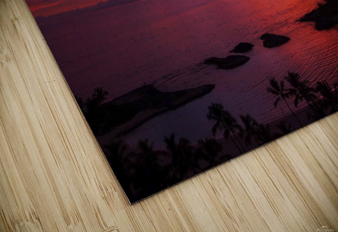 Euphoria Before Bliss - 2013 ARTWORK OF THE YEAR WINNER - Pink and Orange Kissed Skies over Hawaii at Sunset HD Sublimation Metal print