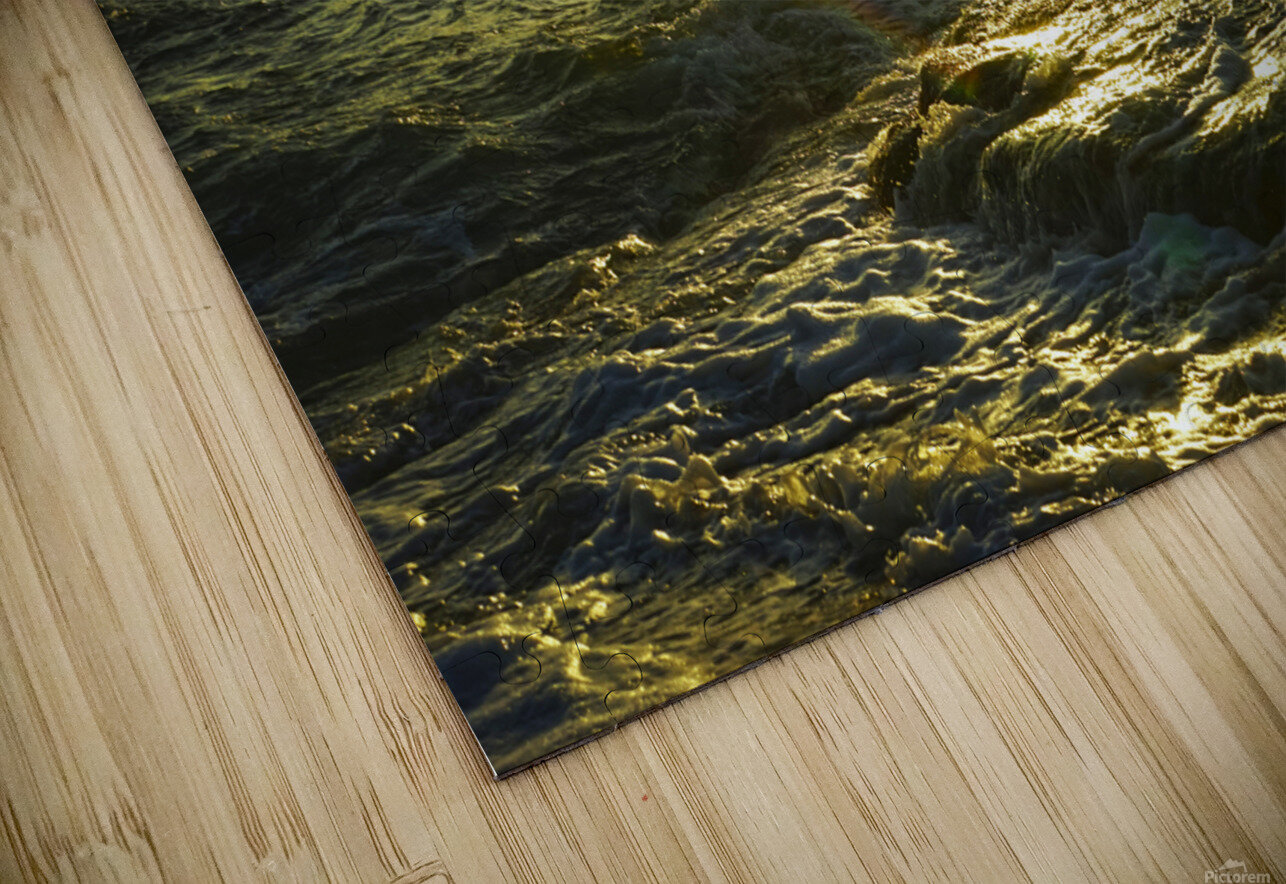 Sunlight and Shadows Play in the Waters at the Bay HD Sublimation Metal print