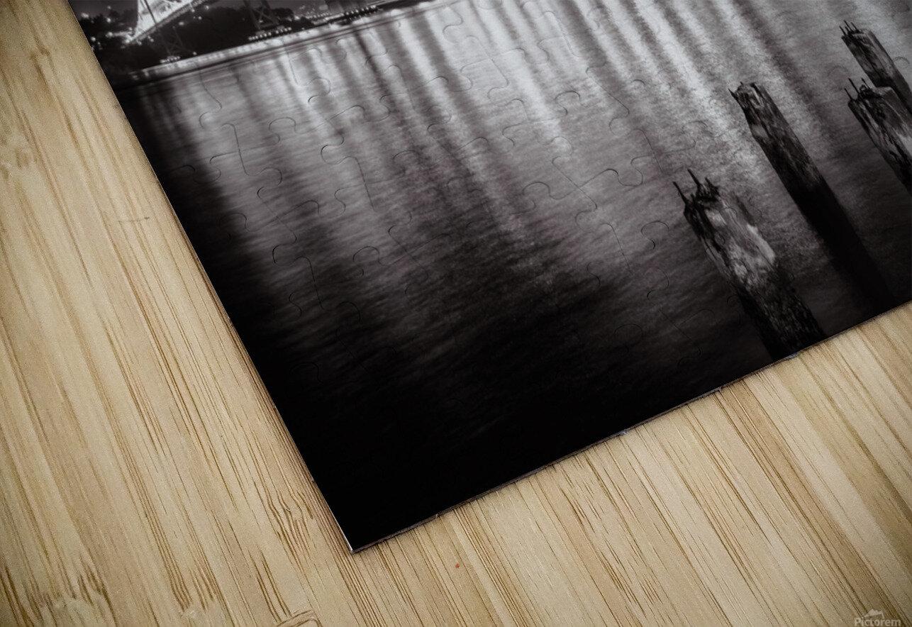 Bay Bridge Black & White HD Sublimation Metal print