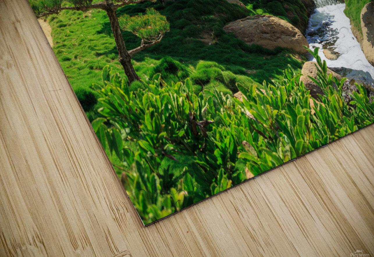 Garden Waterfall HD Sublimation Metal print
