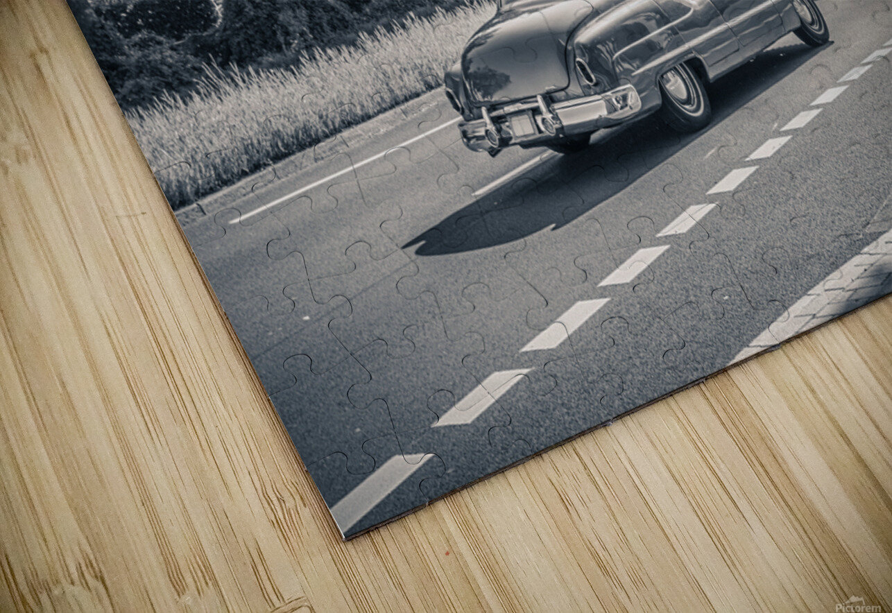American oldtimer car from the 1950s HD Sublimation Metal print