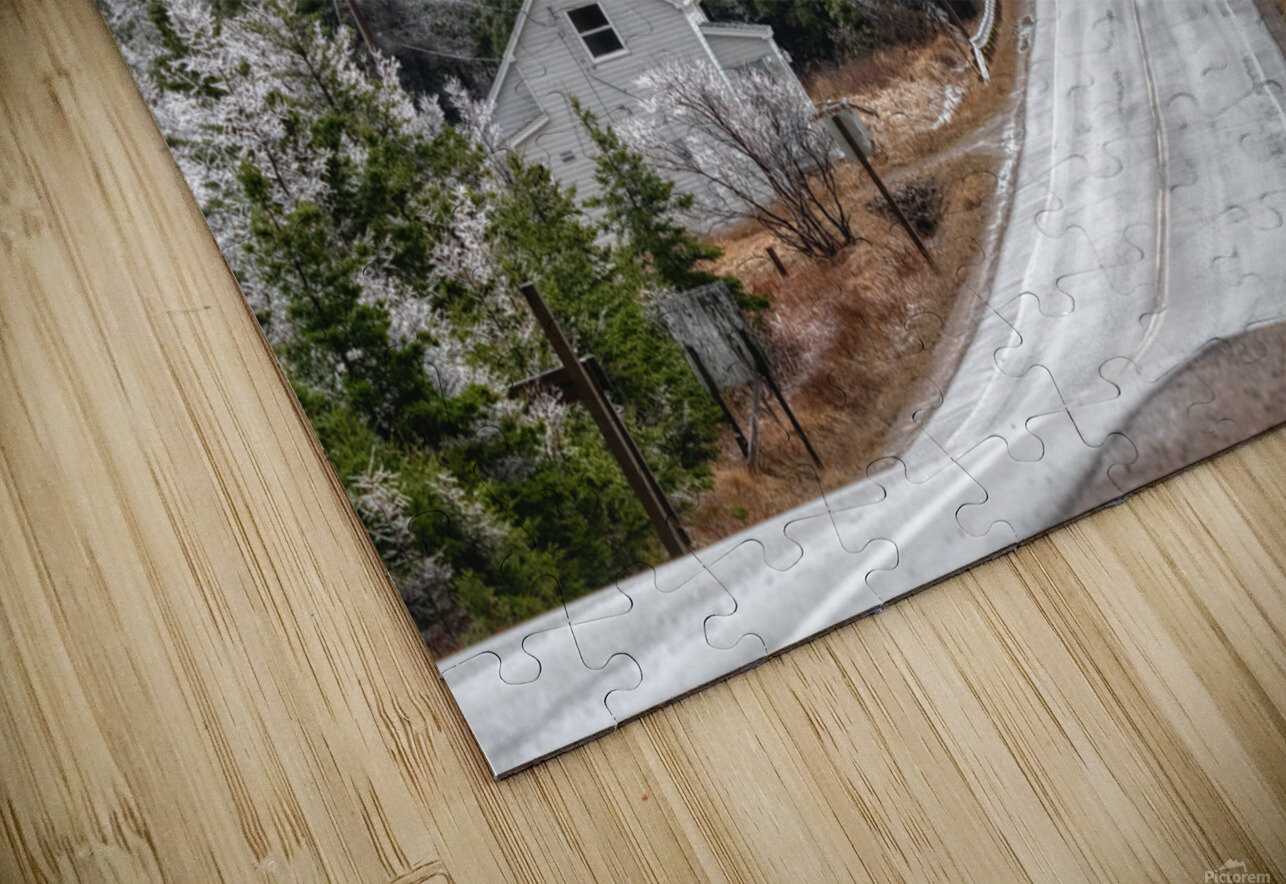 Cheticamp Ice Storm HD Sublimation Metal print