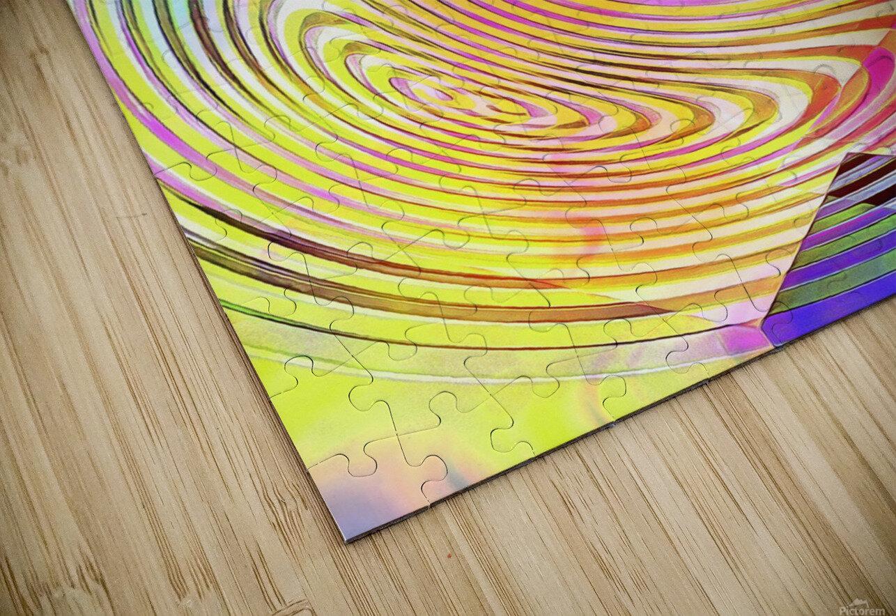 Multicolored Experimental Headache 21 HD Sublimation Metal print