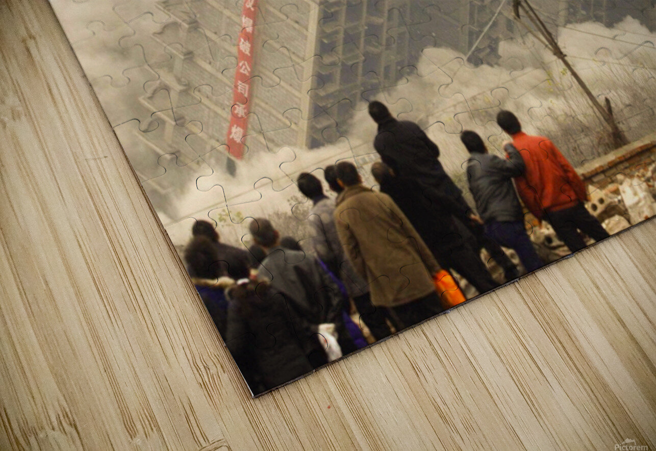 Urban Loneliness - The Crumbling Society HD Sublimation Metal print