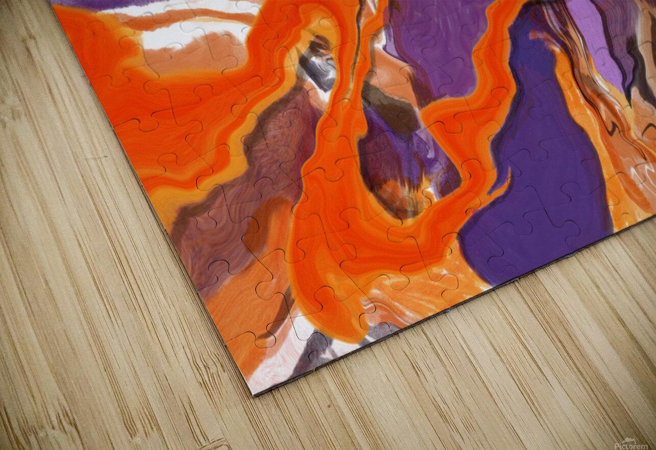 Flaming Paint Pour HD Sublimation Metal print