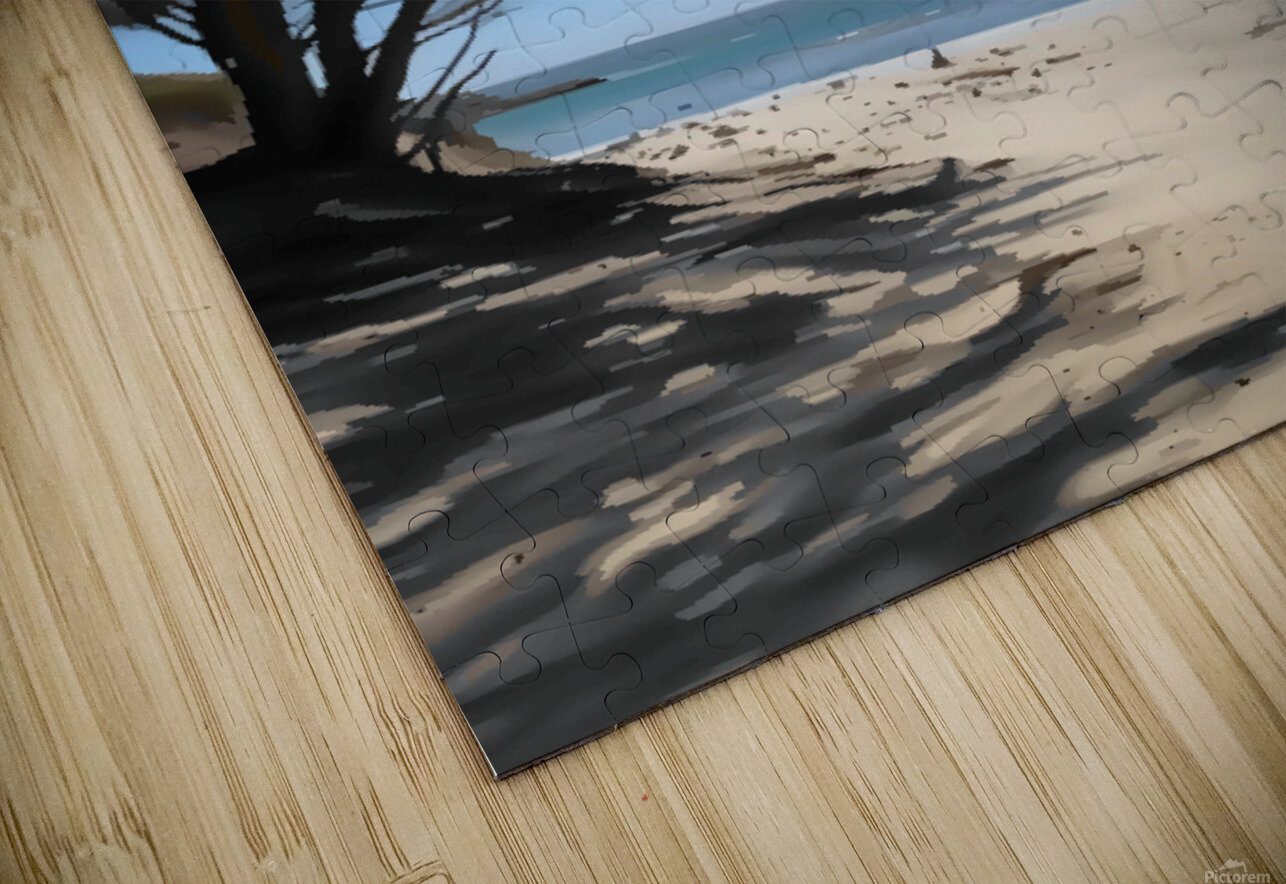 Peaceful Beach HD Sublimation Metal print
