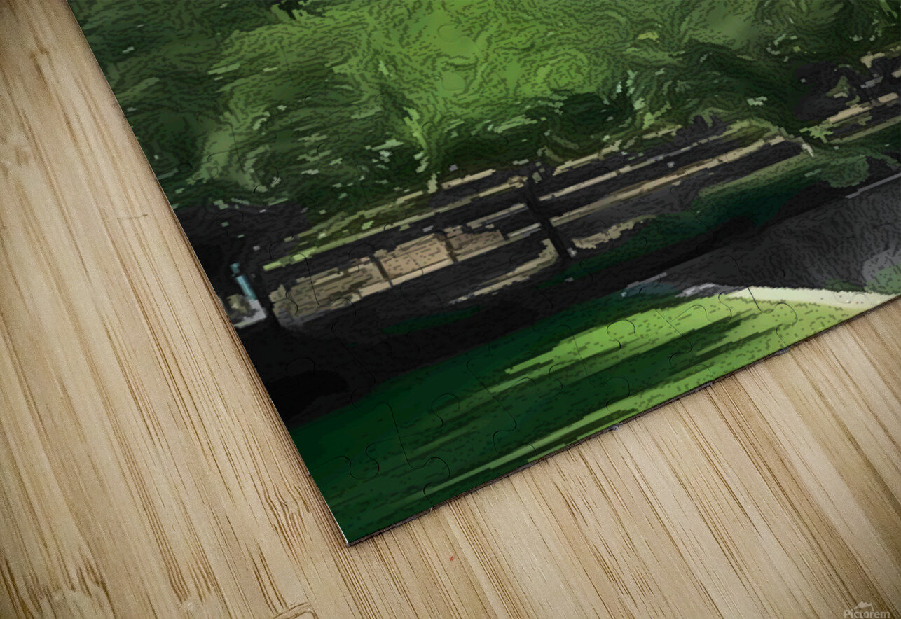 Fields of Green HD Sublimation Metal print