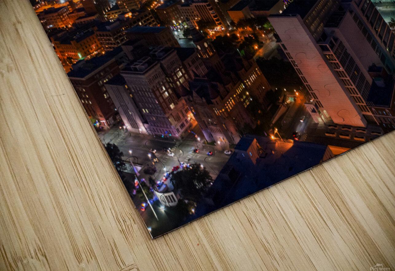 Dallas Skyline HD Sublimation Metal print