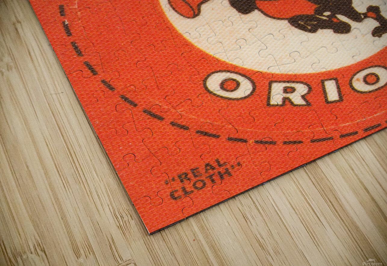 1969 Baltimore Orioles Fleer Cloth Patch Art | Row 1 HD Sublimation Metal print
