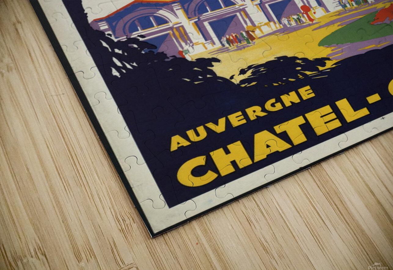 Auvergne Chatel Guyon Vintage French travel poster Impression de sublimation métal HD