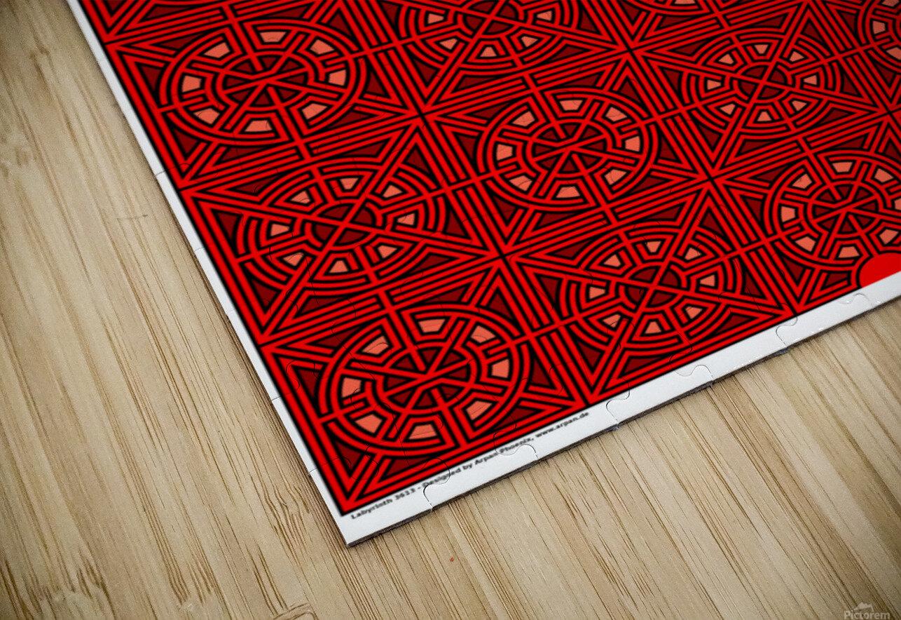 Labyrinth 3613 HD Sublimation Metal print