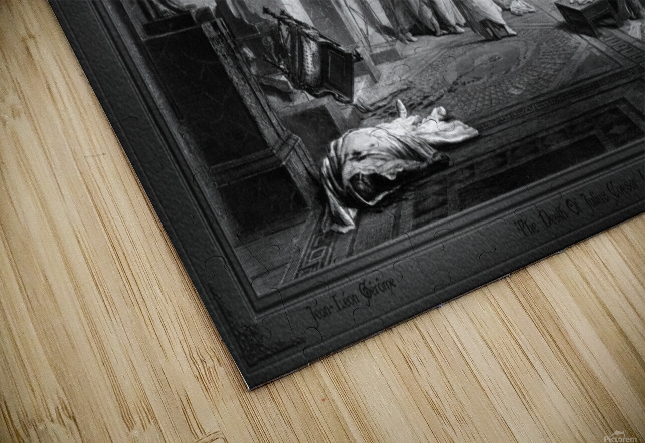 The Death Of Julius Caesar In The Roman Senate Engraving by James Charles Armytage Classical Fine Art Xzendor7 Old Masters Reproductions HD Sublimation Metal print