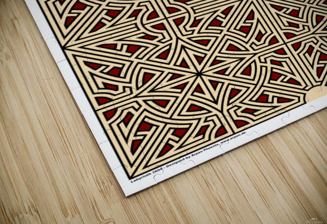 Labyrinth 2604 HD Sublimation Metal print