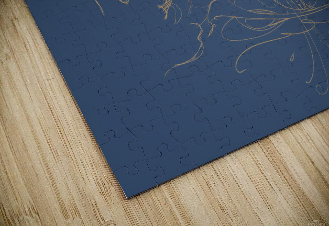 Vanishing Point Dusk HD Sublimation Metal print