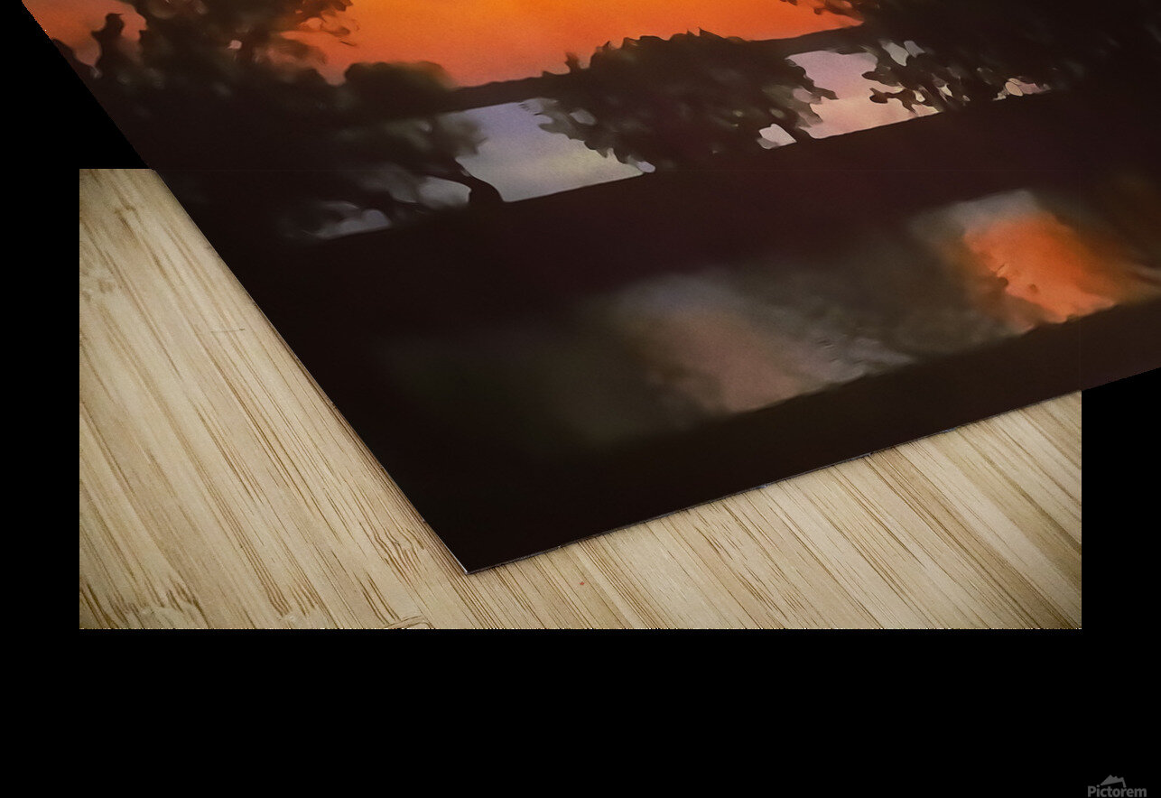 Tranquil Sunset HD Sublimation Metal print