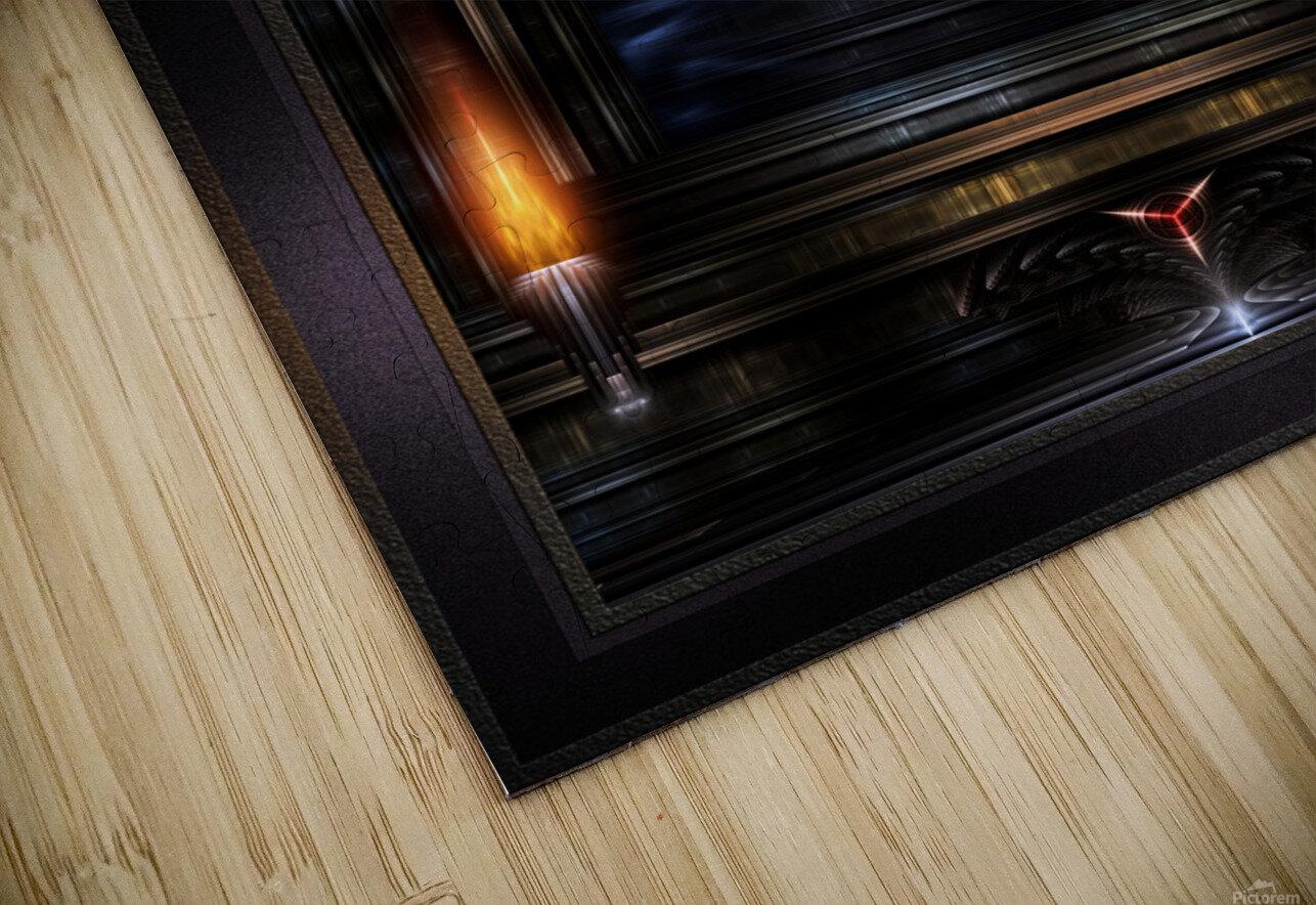 Akrellian Torch Fire Portrait Fractal Art Composition by Xzendor7 HD Sublimation Metal print