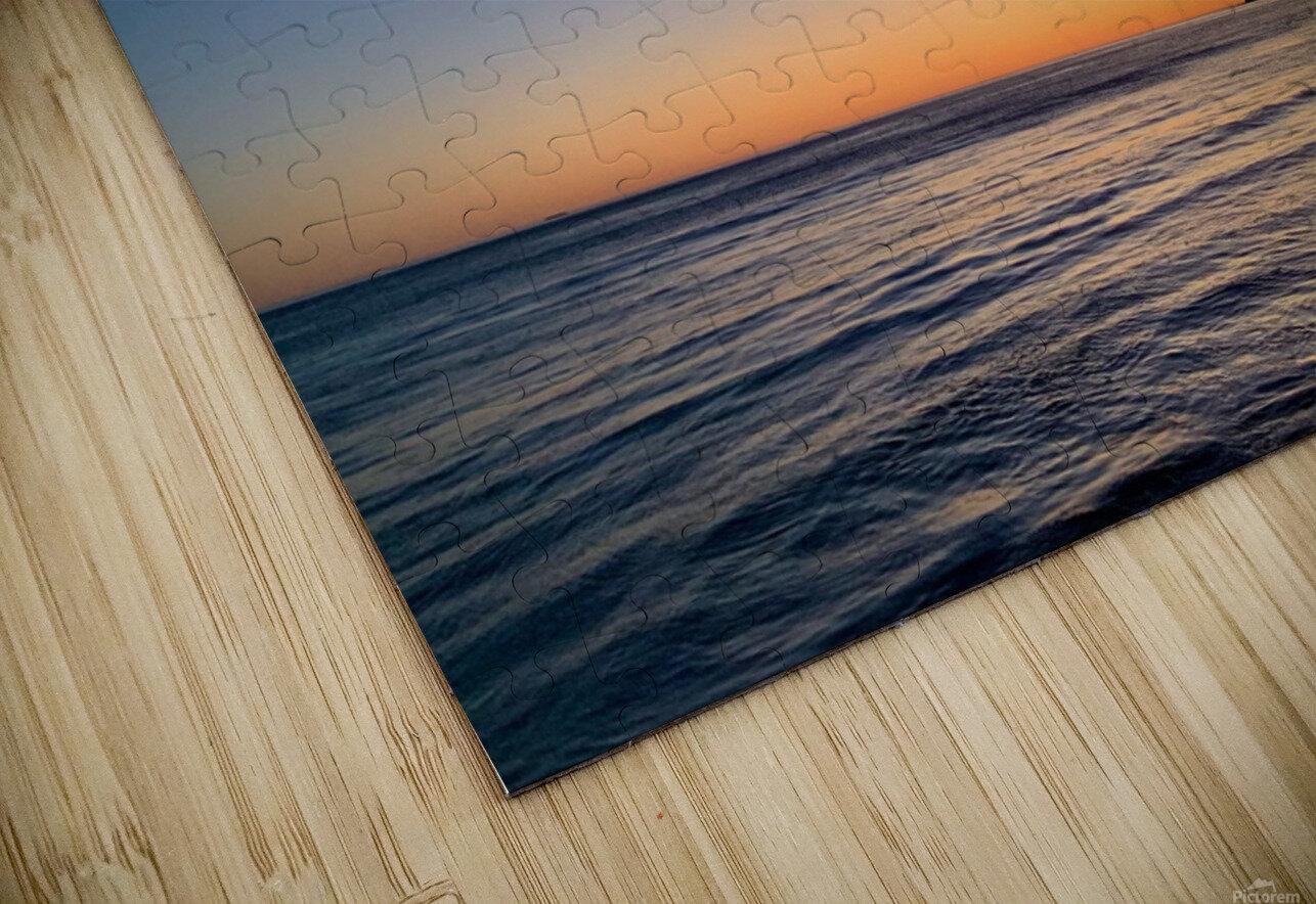 Sunset Moon - Malibu CA HD Sublimation Metal print