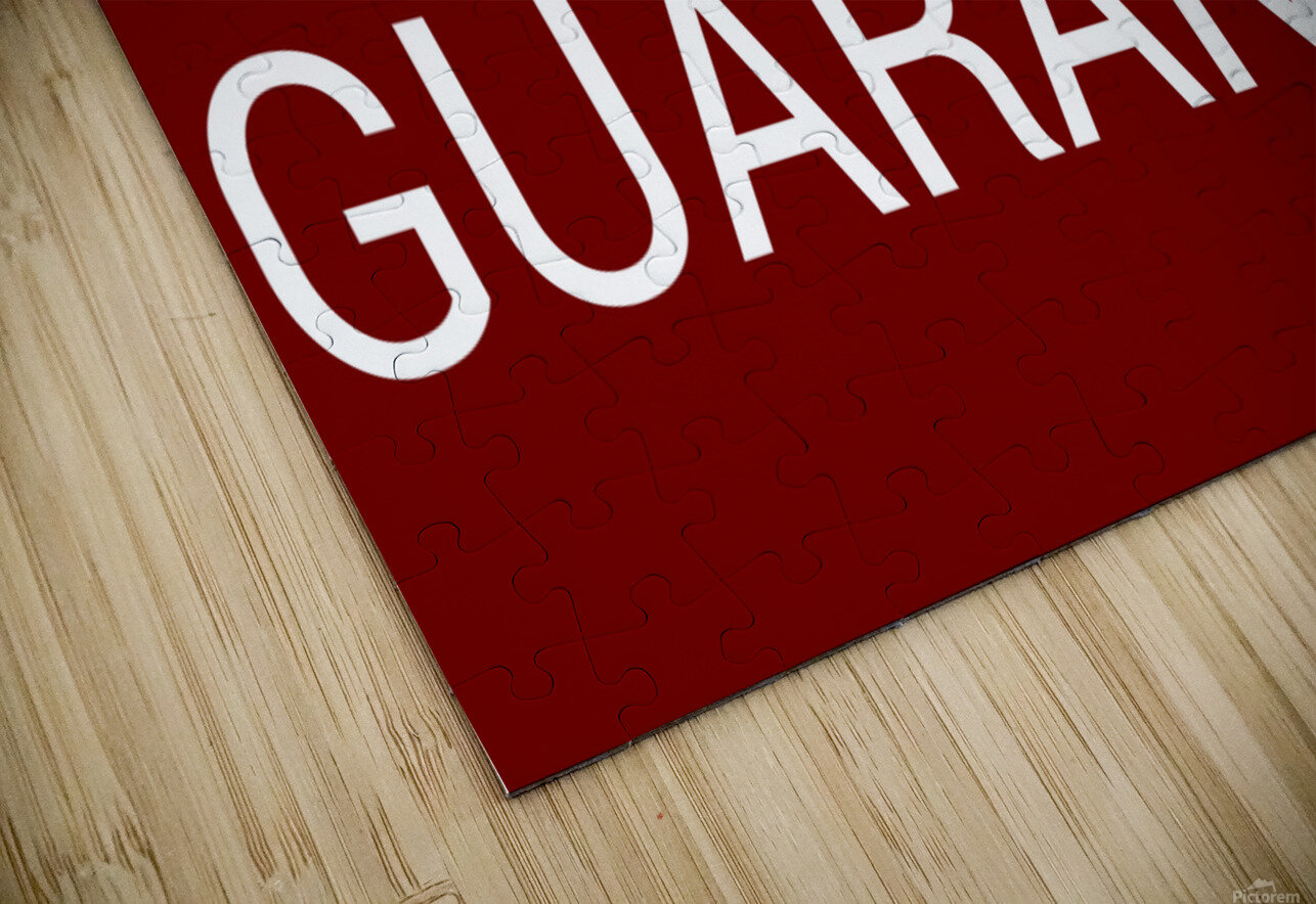 NO GUARANTEE blood red by Lenie Blue HD Sublimation Metal print