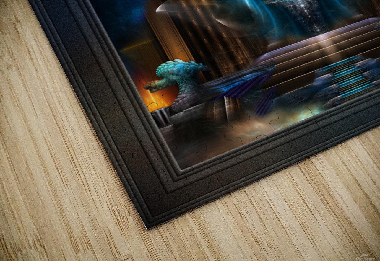 The Golden Vision Of Arsencia Fractal Art Composition HD Sublimation Metal print